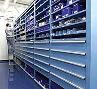 full depth storage wall system